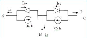 Ebers Moll model of NPN transistor