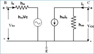Small signal hybrid model of transistor