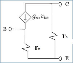 Small signal T model of transistor