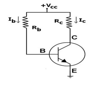 Transistor fixed bias circuit