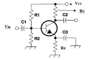 Transistor self bias circuit