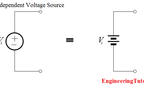 Independent Voltage Source circuit ideal battery