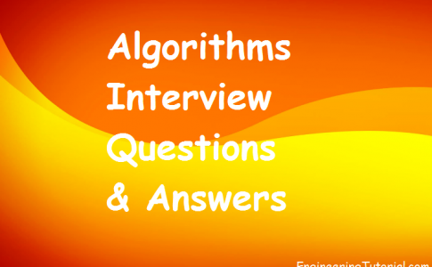 Algorithms Interview Questions & Answers
