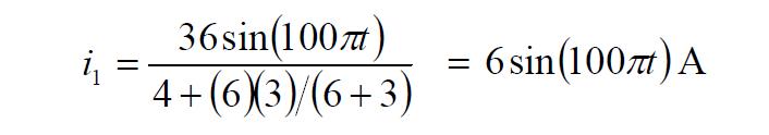Current divider rule Equation 2