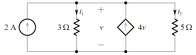 Dependent Current Source Circuit Example