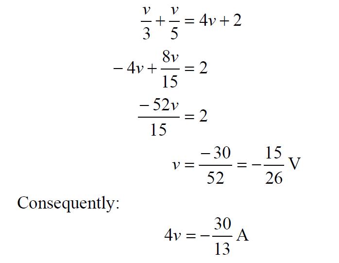 Dependent Current Source Equation