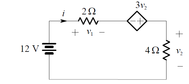 Dependent Voltage Source Circuit Example