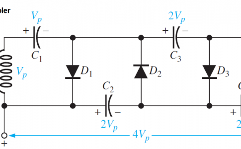 Diode Voltage quadrupler