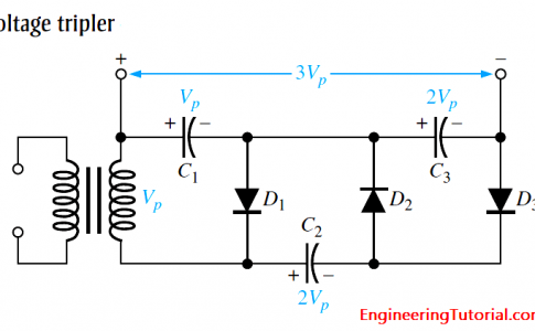 Diode Voltage Trippler Circuit