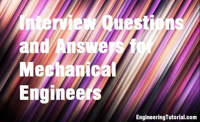mechanical engineering interview questions and answers for freshers pdf