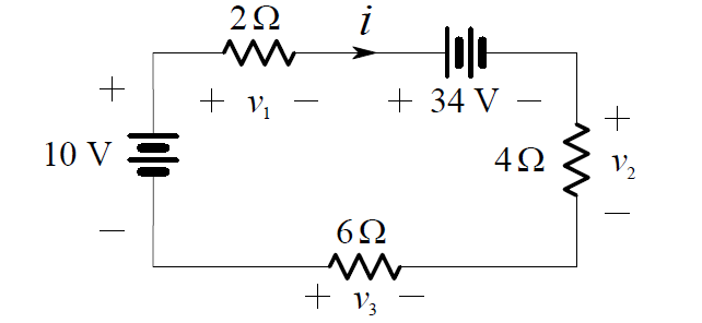 Kirchhoff's Voltage Law Example Circuit