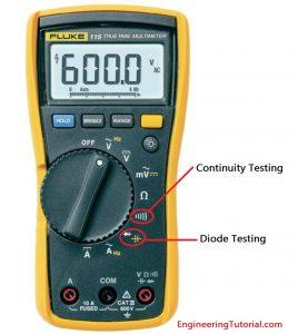 Diode Testing using Multimeter
