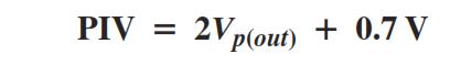 Peak inverse Voltage Formula