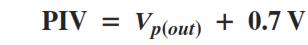 Rectifier PIV Rating