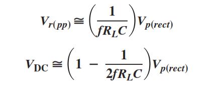 Ripple Factors Equation
