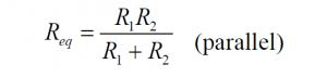 Two resistors parallel Formula