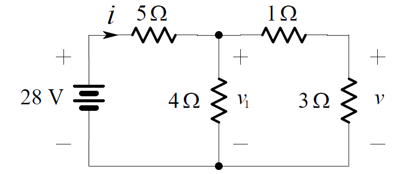 Voltage Divider Rule Circuit Example