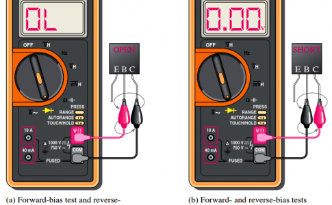 Testing a defective npn transistor