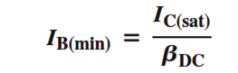 Transistor Switch Formula