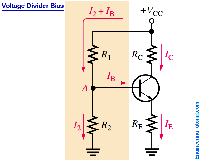 Transistor Voltage Divider Bias Circuit