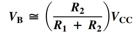 Voltage Divider Bias formula